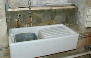 belfast sink with drainer small kitchen design