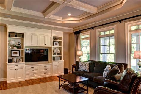 Living Room Tray Ceiling by Custom Home Built In Mechanicsburg Autumn Woodfarinelli