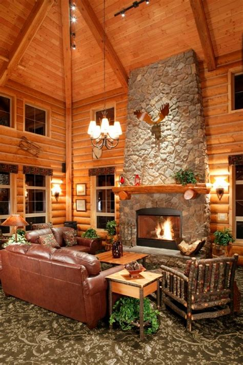 log homes interior cozy cabin design ideas pictoral