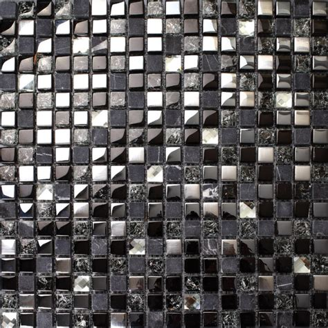 mosaic backsplash tiles crackle crystal mosaic diamond silver plating glass tile