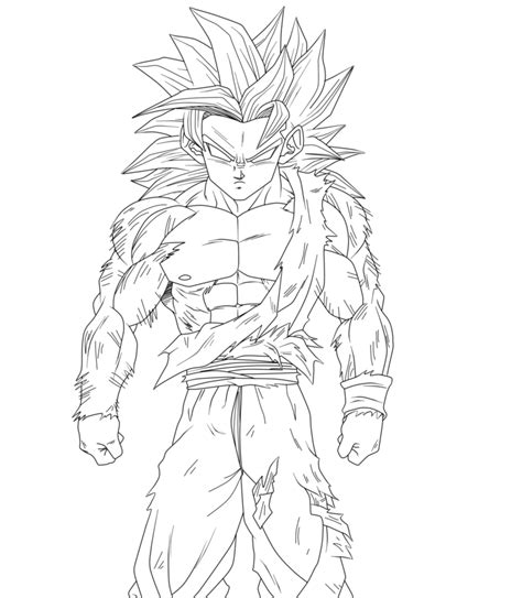 Dragon Ball Z Goku Super Saiyan 4 Coloring Pages Z Coloring Pages Goku Saiyan 5