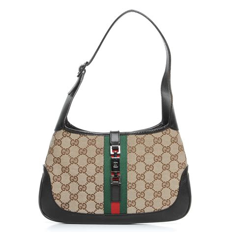 Gucci Web Small Brown gucci monogram web small jackie o hobo brown 222395