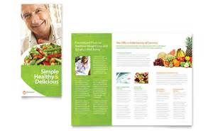 nutritionist amp dietitian tri fold brochure template word