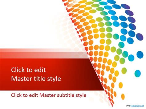 Free Abstract Ppt Templates Rainbow Powerpoint Template Free