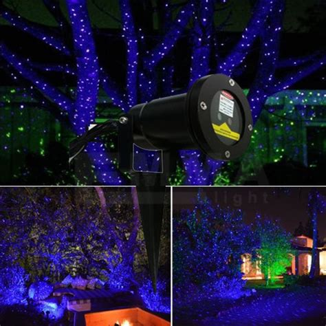 outdoor elf laser lights  treesblue garden laser light