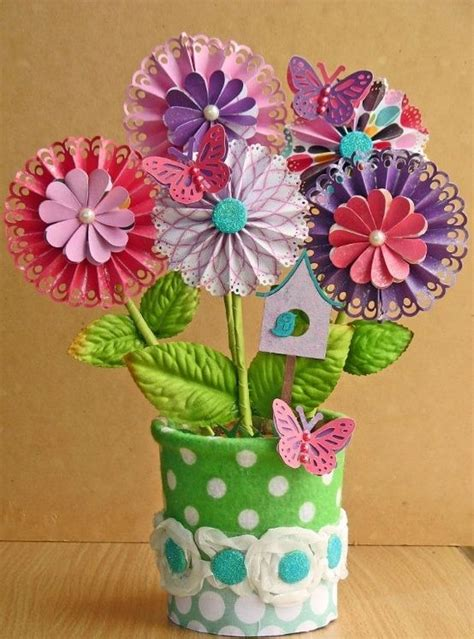 Make Paper Flowers Scrapbooking - 17 best ideas about paper flowers for on