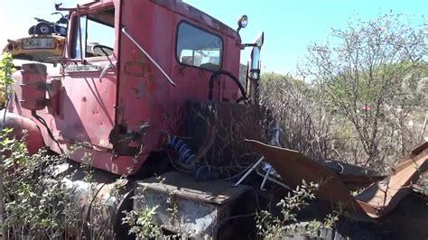 diamond  semi truck junkyard find youtube