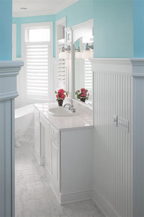 amazing bathroom wall paneling ideas to add pizzazz to the the timeless beauty of beadboard adds charm and coziness