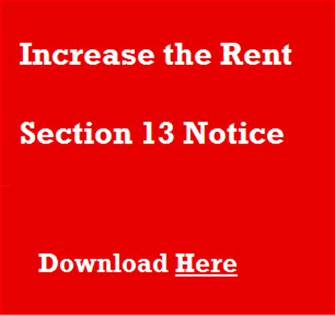 section 8 rent increase rent increases the section 13 notice