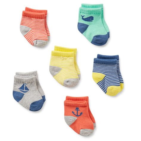 Baby Socks 6 pack nautical baby socks carters