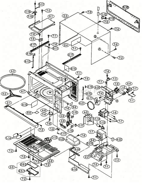sharp microwave parts diagram sharp carousel microwave parts diagram 38 wiring diagram