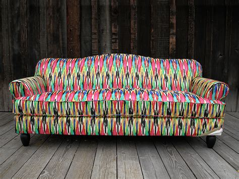 ikat couch happy quot cow quot ches chameleon style 174