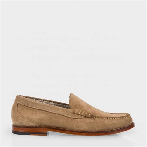 paul smith loafers paul smith s taupe suede raymond loafers in brown