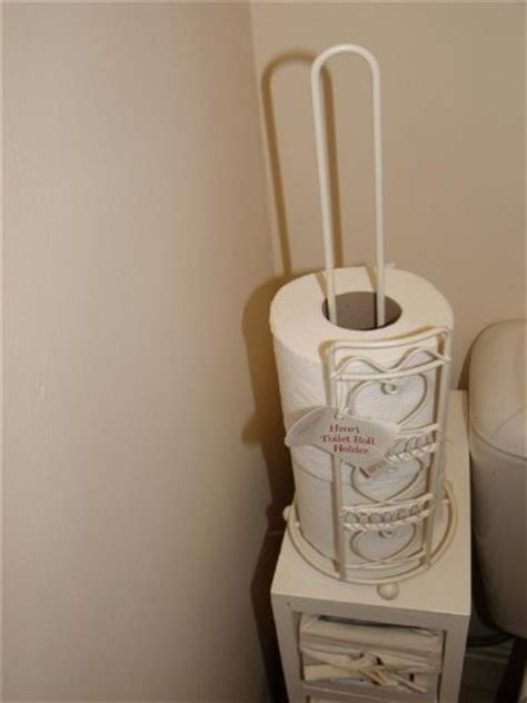 new shabby chic bathroom tidy toilet roll holder stand
