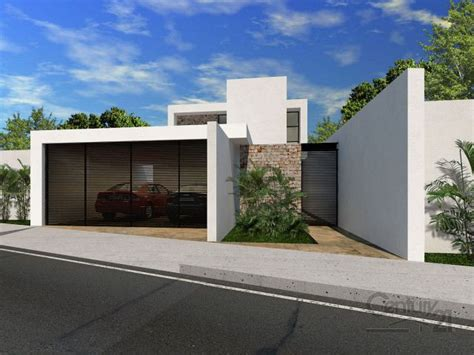 cocheras minimalistas peque 241 a vivienda estilo tradicional exteriores r 250 sticos e