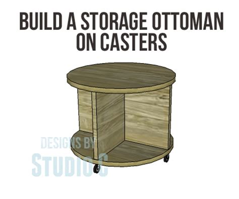 storage ottoman plans build a storage ottoman on casters designs by studio c