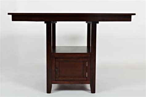 square pub table with storage jofran tessa chianti casual square counter height table