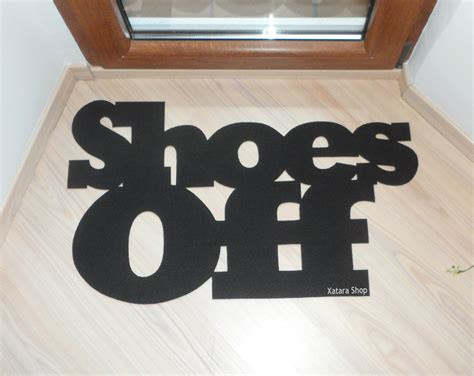 Take Off Your Shoes Doormat Shoes Off Door Mat Custom Doormat Home Decor Elegant Floor