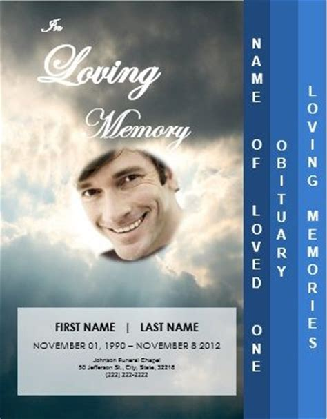 funeral leaflet template free memorial services funeral and leaflets on