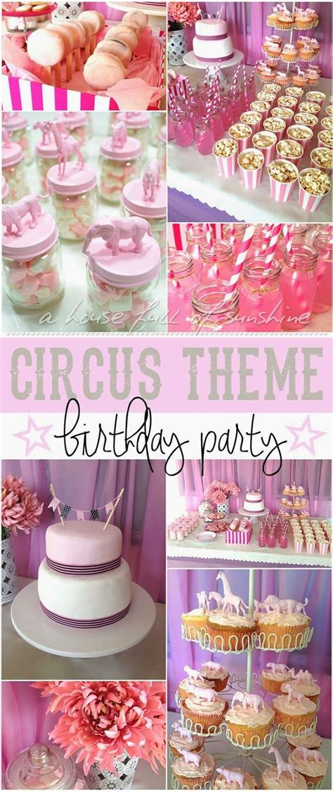 pink circus lots of great ideas here