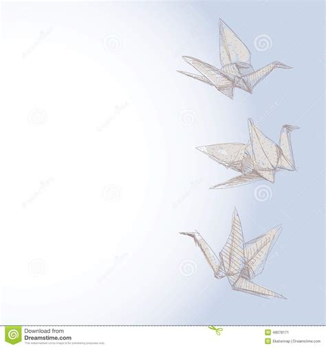 Origami Crane Symbol - origami crane sketch symbol of faith and