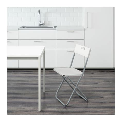 ikea gunde gunde folding chair white ikea