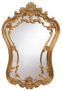 Antique gold victorian wall mirror traditional mirrors by