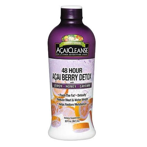Acai Cleanse Detox Liquid by Garden Greens Acaicleanse 48 Hour Acai Berry Detox 32 Fl