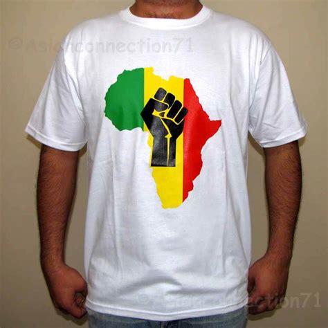 Kaos Afrika The Power Of Rasta africa power rasta reggae t shirt s m l xl white ebay