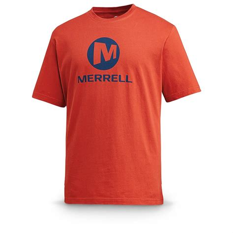 T Shirts merrell stacked logo graphic sleeved t shirt 580187 t shirts at sportsman s guide