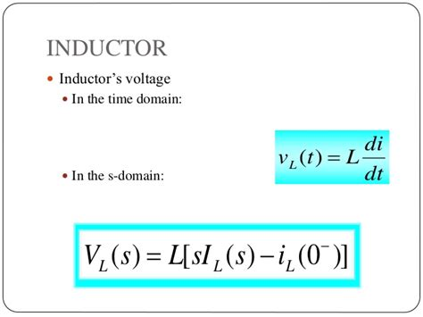 inductor in s domain laplace transform and its applications