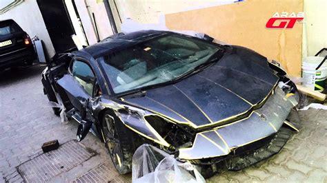 Lamborghini 100k Wrecked Lamborghini Aventador Auctioned For 100k In Dubai