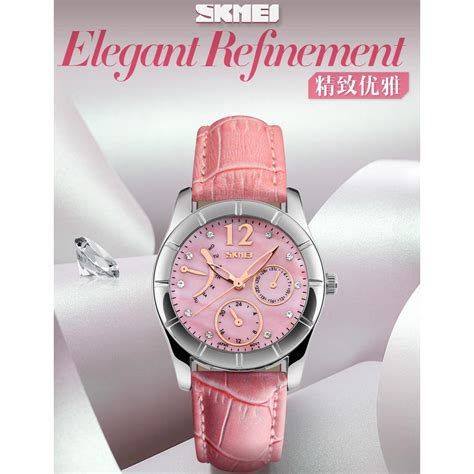 Jam Tangan Wanita Pasnew Ab1183 Pink skmei jam tangan analog wanita 6911cl pink jakartanotebook