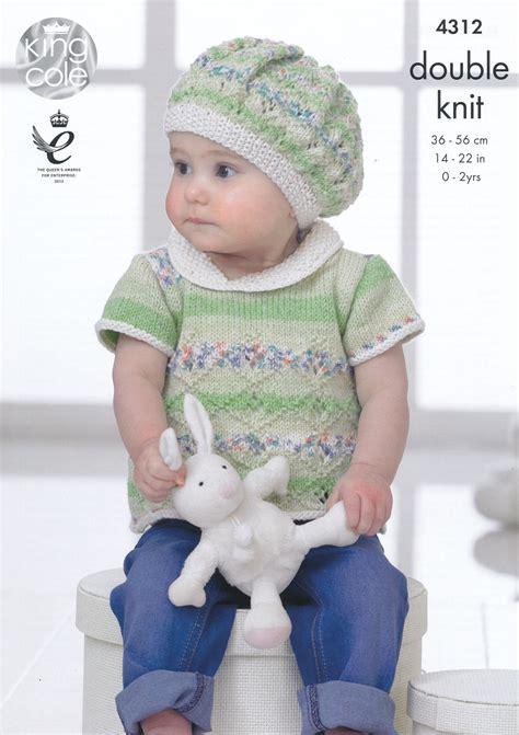 free baby beret knitting pattern king cole knitting pattern lace effect top dress