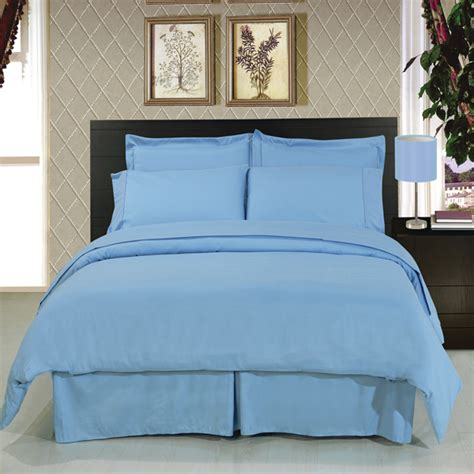 solid blue 8 piece soft microfiber bedding set