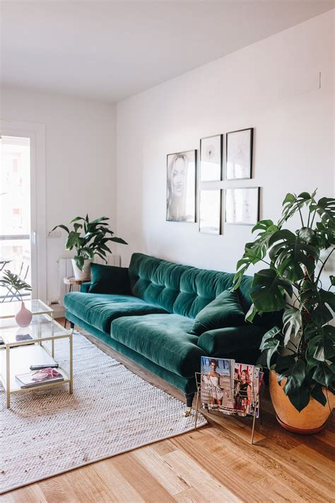 modern green velvet sofa 10 biggest fall 2017 decor trends green velvet sofa