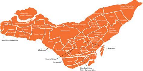 arrondissements  principaux quartiers de montreal