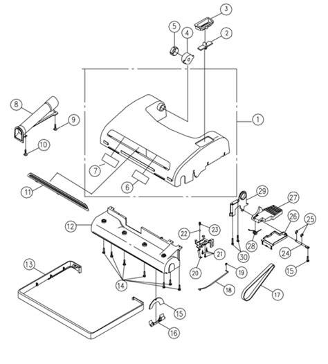 riccar vacuum parts diagram riccar 8955 parts vacuum repair diagrams