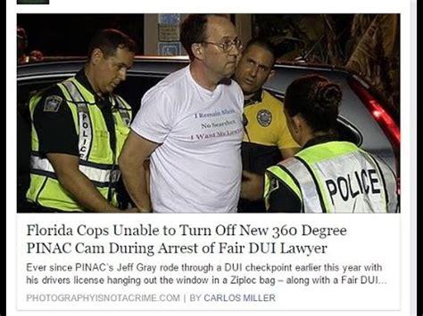 florida cops unable  turn    degree pinac cam