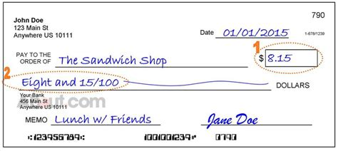 exle of written check write a check with dollars and cents exle