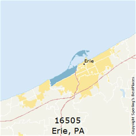 zip code map erie county pa best places to live in erie zip 16505 pennsylvania