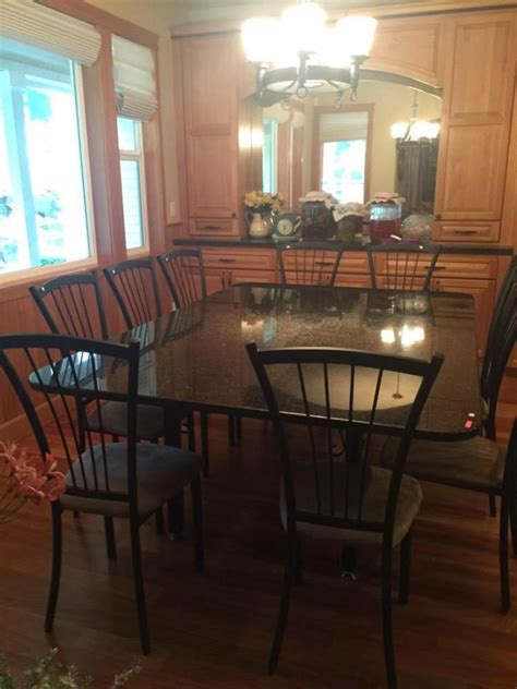 custom built dining room tables custom made granite top dining room table with wrought iron