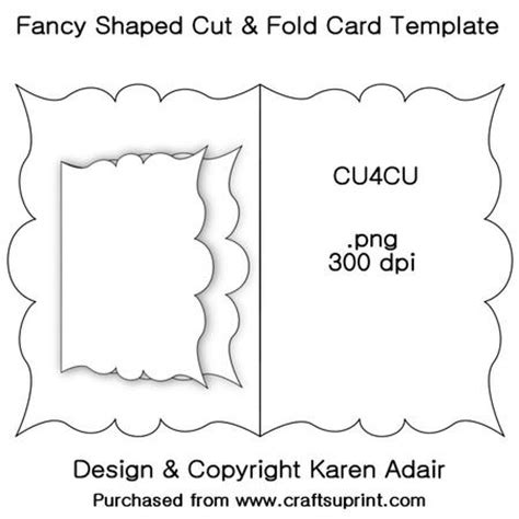 two fold card template fancy shaped cut fold card template cup326956 168