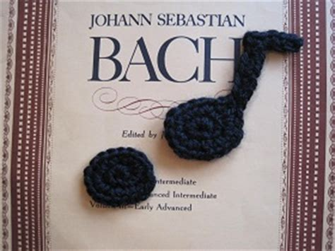 crochet pattern music notes crochetpedia random object crochet appliques