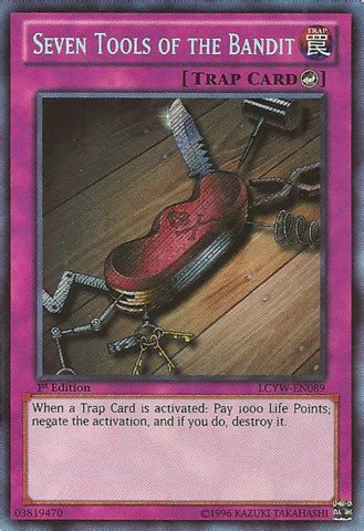 Secret Of Bandit seven tools of the bandit lcyw en089 secret 1st edition yu gi oh singles