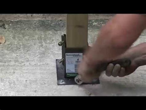 install l post concrete how to install a fence post onto concrete youtube