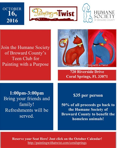 paint with a twist refund painting with a twist word humane society of broward