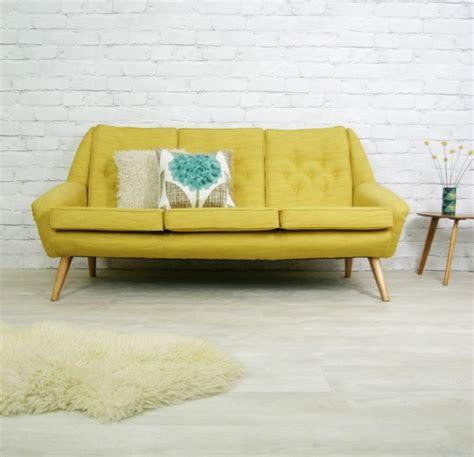 retro settee vintage retro mid century mustard danish style sofa settee