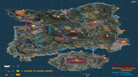 pubg loot map pubg island map of erangel loot locations for android