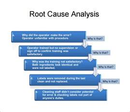 rca template rca template ppt root cause analysis template 9 free